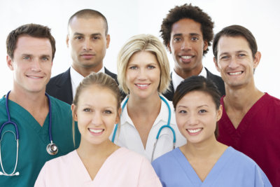 a portrait of a medical team